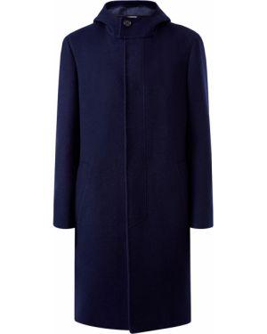 Пальто с капюшоном итальянское шерстяное Canali