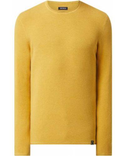 Sweter bawełniany - żółty Mcneal