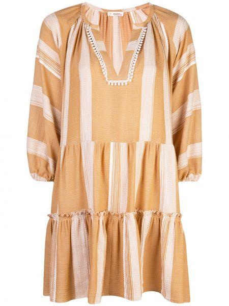 Платье мини в полоску в стиле бохо Lemlem