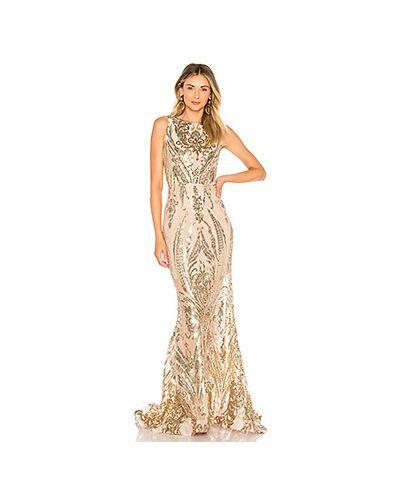 Вечернее платье золотой Bronx And Banco