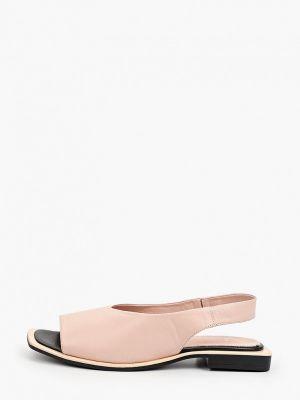 Розовые кожаные сандалии Laremo