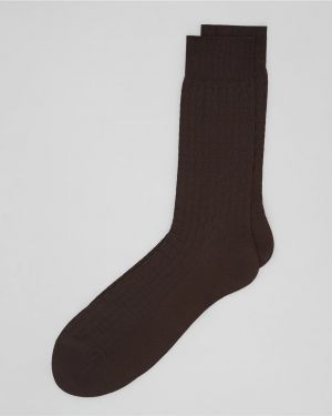 Носки с принтом нейлоновые коричневый Henderson
