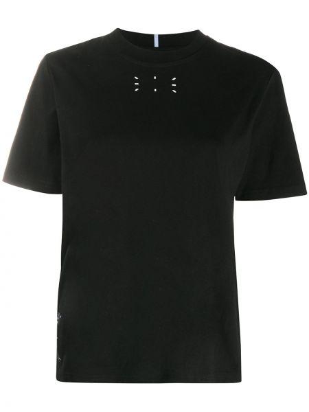 Прямая черная базовая футболка с нашивками Mcq Alexander Mcqueen