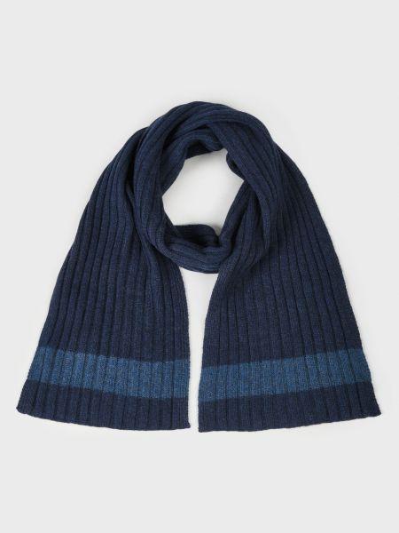 Кашемировый шарф - синий Barba Napoli