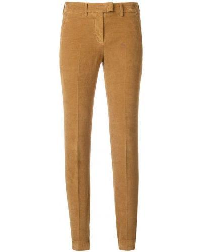 Укороченные брюки вельветовые с карманами Incotex
