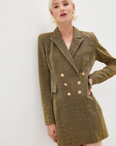 Зеленое вечернее платье Chiara Ferragni Collection