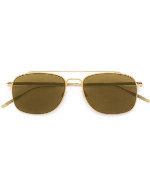 Желтые солнцезащитные очки металлические с завязками Tomas Maier
