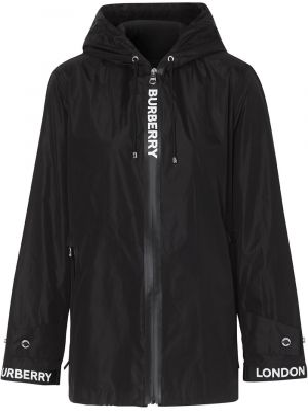 Куртка с капюшоном черная на молнии Burberry