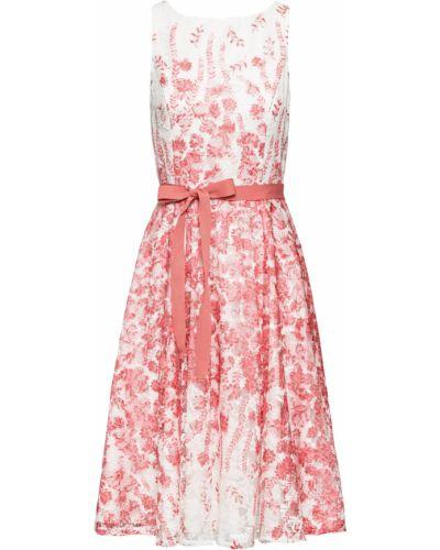 Текстильное кружевное белое платье миди Bonprix