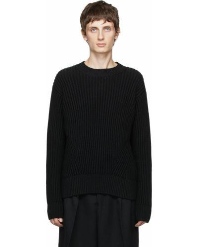 Sweter wełniany - czarny Ami Alexandre Mattiussi