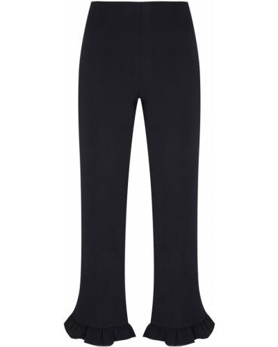 Повседневные черные укороченные брюки с оборками Edit
