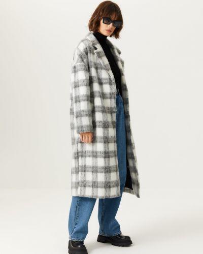 Серое пальто свободного кроя Sela
