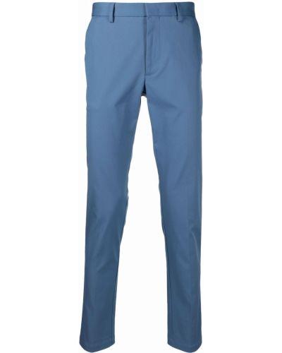 Niebieskie spodnie z paskiem bawełniane Boss Hugo Boss