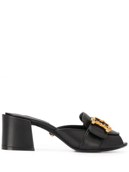 Мюли черный на каблуке Dolce & Gabbana