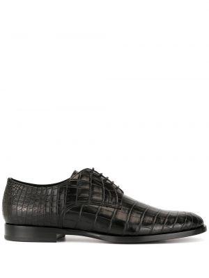 Черные кожаные туфли на каблуке Dolce & Gabbana