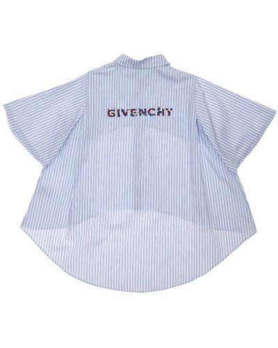 Koszula bawełniana w paski z haftem Givenchy