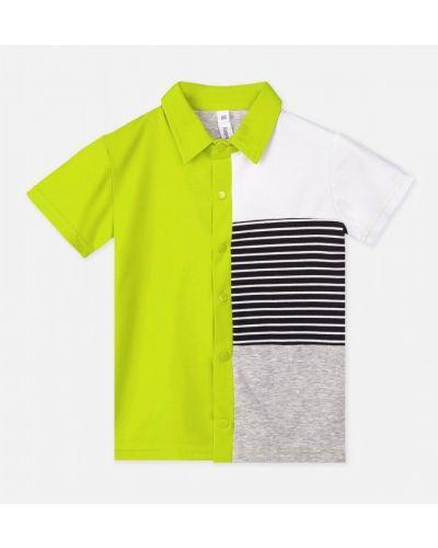 Трикотажная модная блузка с воротником Playtoday