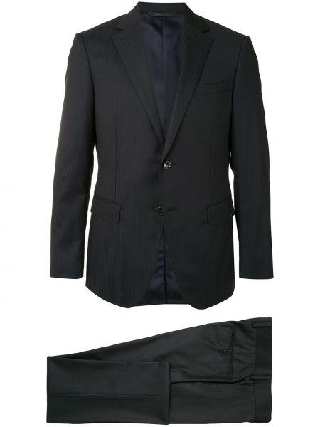 Шерстяной черный костюмный костюм классический узкого кроя D'urban