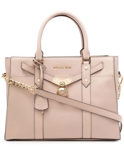 Розовая кожаная сумка Michael Michael Kors