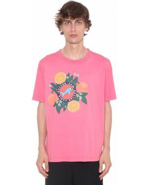 Różowy t-shirt bawełniany Botter