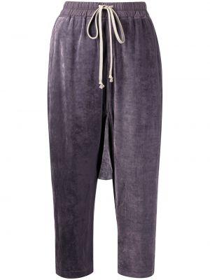 Spodnie z wiskozy - fioletowe Rick Owens