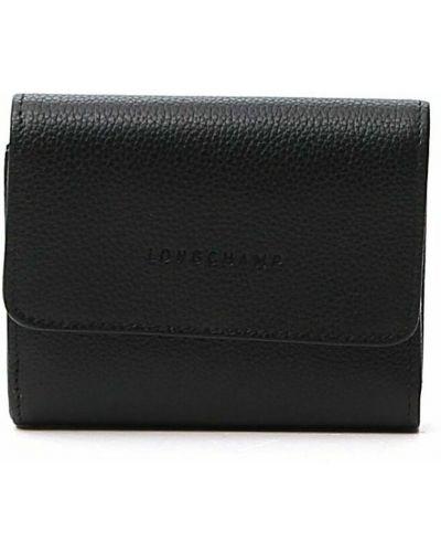 Czarny portfel Longchamp