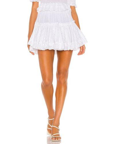 Хлопковая белая юбка на резинке Misa Los Angeles