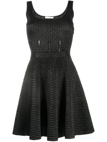 Платье мини черное с рукавами Alexander Mcqueen