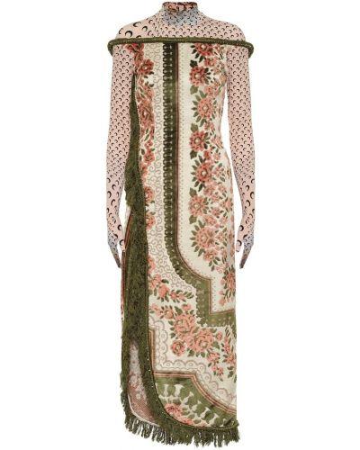 Шелковое платье миди Marine Serre
