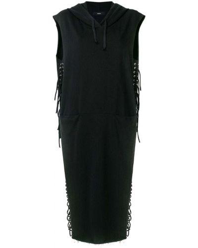 Платье миди с разрезами по бокам на шнуровке Diesel