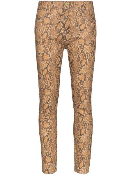 Коричневые джинсы-скинни с пайетками Frame