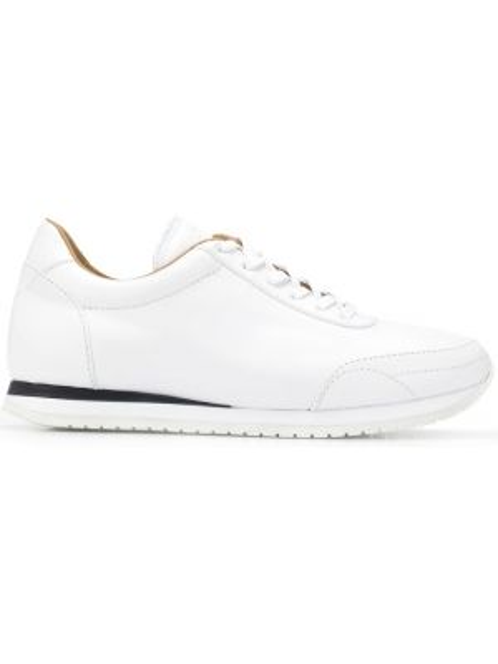 Skórzane sneakersy białe Brioni