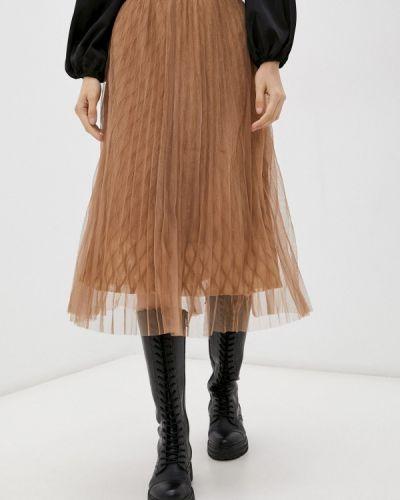 Коричневая плиссированная юбка Softy