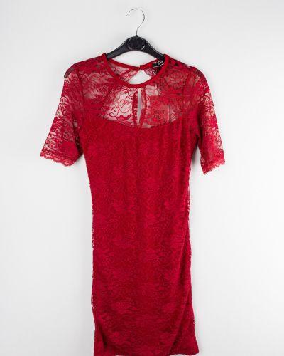 Бордовое повседневное платье Jennyfer