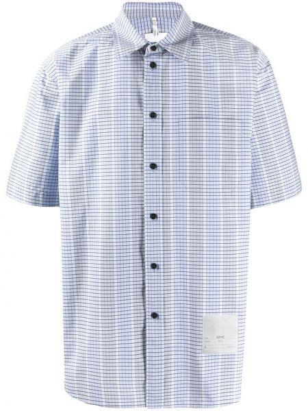 Koszula krótkie z krótkim rękawem w kratę z kołnierzem Oamc