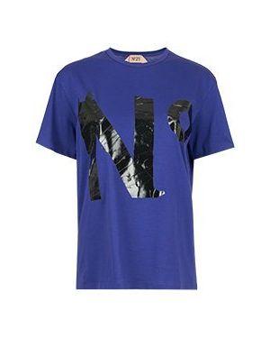 Хлопковая футбольная фиолетовая футболка No.21