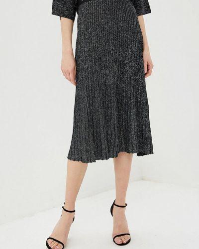 Плиссированная юбка черная Liu Jo