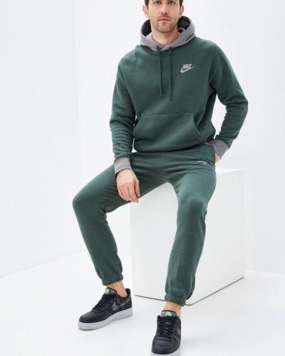Костюмный зеленый спортивный костюм Nike