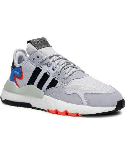 Szare spodnie do biegania Adidas