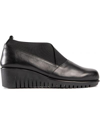 Туфли на танкетке - черные The Flexx