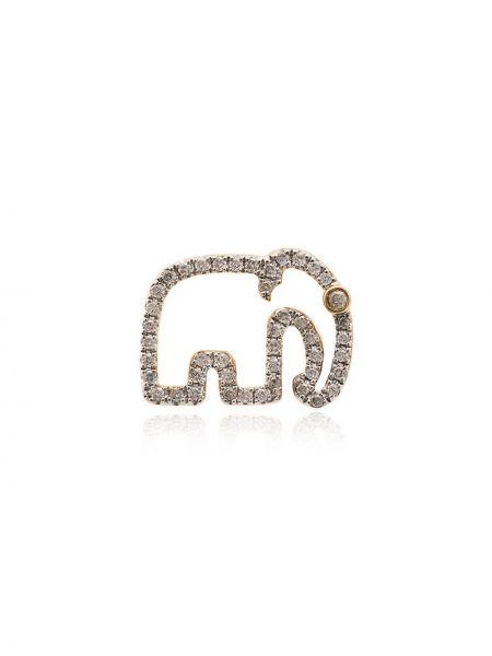 Золотые серьги на кнопках Yvonne Léon