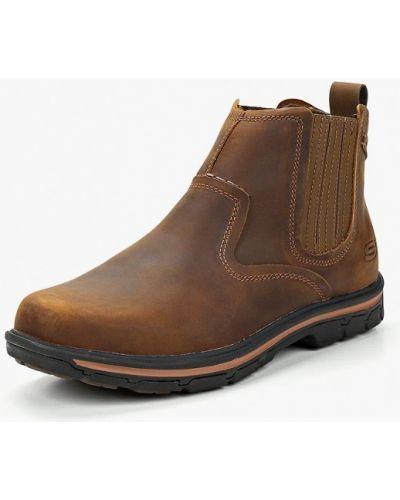 Ботинки челси осенние кожаные Skechers