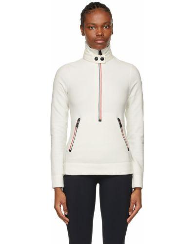 Czarna bluza długa z długimi rękawami w paski Moncler Grenoble