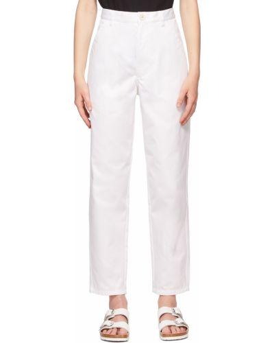 Biała koszula bawełniana z paskiem Comme Des Garcons Shirt