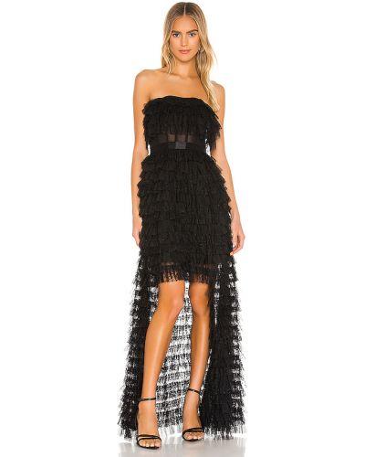 Czarna sukienka koronkowa z siateczką Bcbgmaxazria