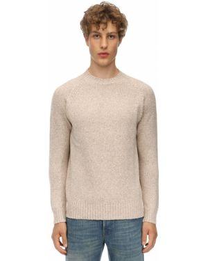 Beżowy z kaszmiru sweter z raglanowymi rękawami Piacenza Cashmere