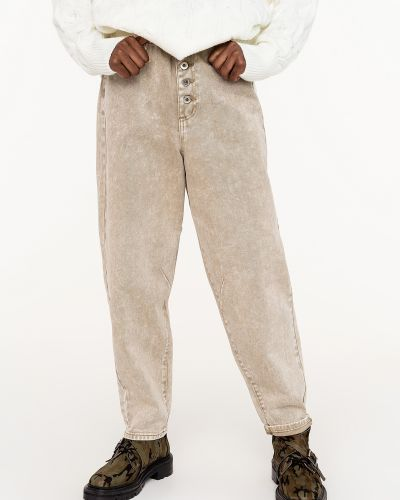Джинсовые широкие джинсы - бежевые Befree