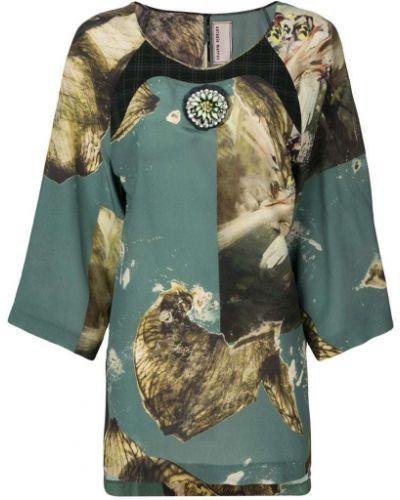 Блузка с принтом зеленый Antonio Marras
