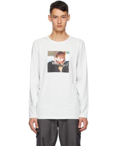 Хлопковая рубашка с воротником мятная с длинными рукавами Affix