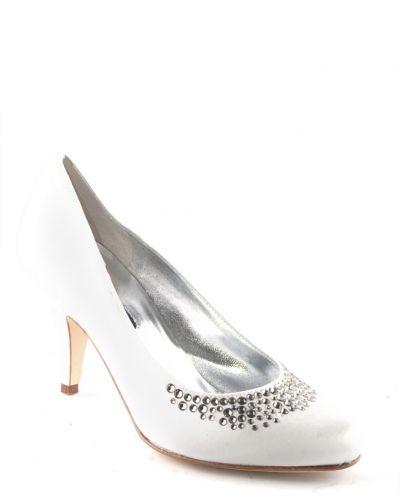 Туфли на каблуке кожаные белый Sandro Vicari